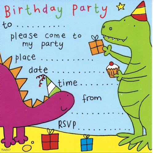Dinosaur Children's Party Invitation